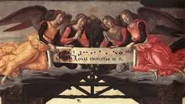 Adoration of the magi detail 7 1488 florence